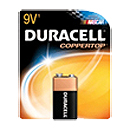 Duracell MN1604B1 Alkaline Size Square 9V - Click here for product information page