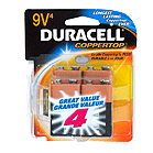 Duracell MN16RT4Z Alkaline Size Square 9V 4 Pack - Click here for product information page