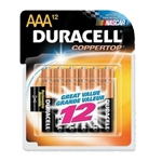 Duracell MN24RT12Z Alkaline Size AAA 1.5V 12 Pack - Click here for product information page