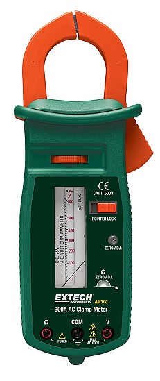 Analog Clamp Meter : Extech am a ac analog clamp meter