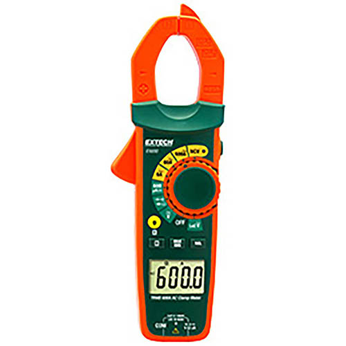Click for larger image of the Extech EX650 600A True RMS Clamp Meter with Non-Contact Voltage Detector and Low Impedance