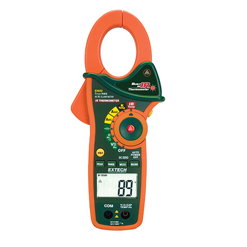 Clamp Style Multimeter : Extech ex true rms ac dc clamp digital multimeter