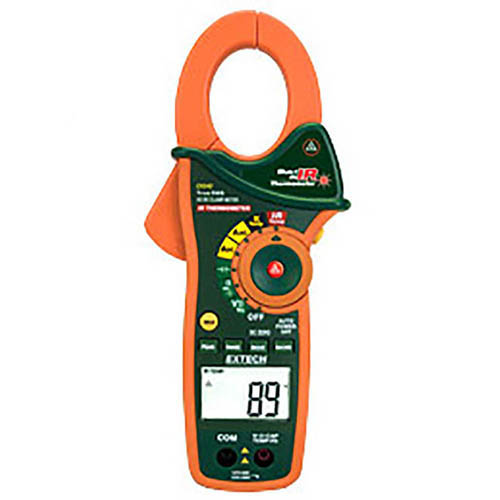 Extech EX840 True-RMS AC/DC Clamp/Digital Multimeter & Infrared Thermometer, 1000V, 1000A CAT IV