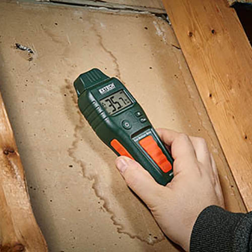 Extech MO55 Combination Pin/Pinless Moisture Meter for Wood & Building Materials (Image 1)