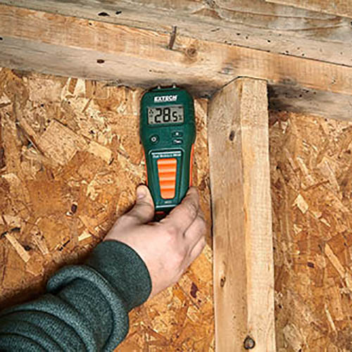Extech MO55 Combination Pin/Pinless Moisture Meter for Wood & Building Materials (Image 2)