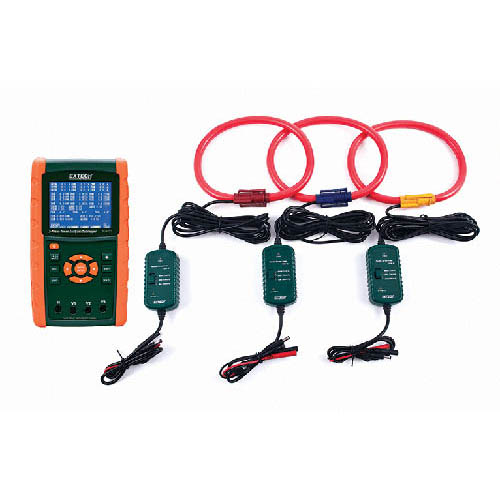 Extech PQ3450-30 3000 A 3-Phase Power Analyzer Kit with 3