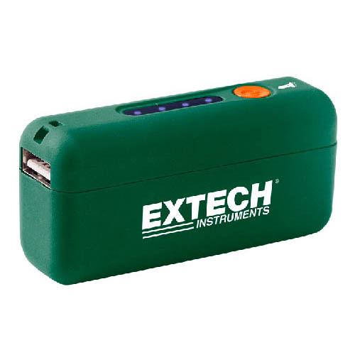 Click for larger image of the Extech PWR5 Compact Power Bank with Built-In LED Flashlight, 2800 mAh