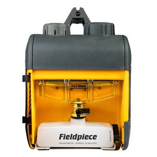 Fieldpiece VP85 3/4 hp 8 CFM, Two-Stage Vacuum Pump with RunQuick Oil  Change System, Brushless DC Motor, 2500 RPM