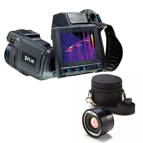 FLIR T620BX-45 Thermal Imaging Camera, MSX, 45° Lens, 640 x 480, -40 - 1,202°F Range, 30 Hz, 4x Zoom