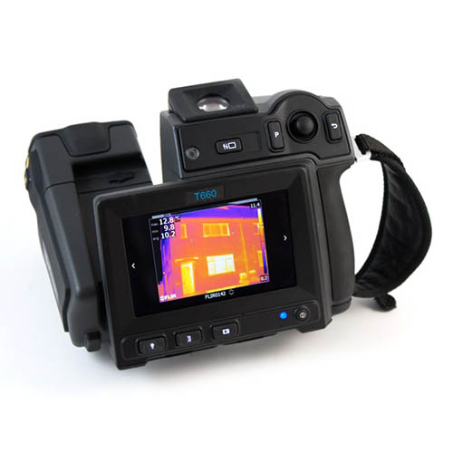 FLIR T660-25 Thermal Imaging Camera, MSX, UltraMax, 25° Lens, 640x480, -40 - 3,632°F, 30 Hz, 8x Zoom (Touchscreen)