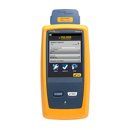 DSX-8000 Cable Analyzer for the Versiv 2 System with DSX-CHA804 Cat 8 Channel Adapter