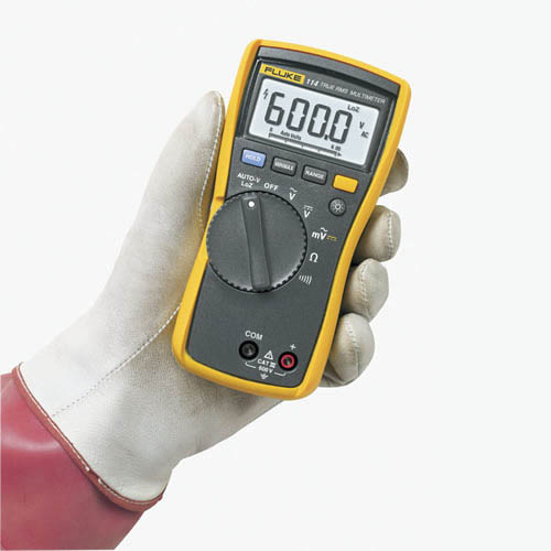 Fluke Voltmeter Tester : Fluke true rms ac dc electrical multimeter at the