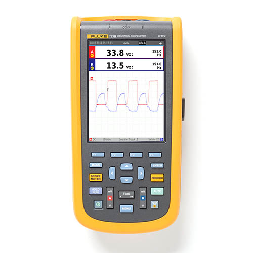 Fluke 123B/NA 20 MHz, 2-Channel, 40 MS/s Industrial ScopeMeter Hand-Held Oscilloscope