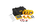 Fluke 1623-2 KIT Basic Earth Ground Tester Kit with 1623-2, Cable Reels, Ground Stakes, Clamps, Case