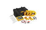 Fluke 1625-2 KIT Basic Earth Ground Tester Kit with 1625-2, Cable Reels, Ground Stakes, Clamps, Case