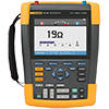 Fluke 190-062/AM/S 60 MHz, 2 Ch, 625 MS/s, ScopeMeter Oscilloscope w/Built-in DMM & SCC-290 Kit