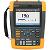 Fluke 190-102/AM/S 100 MHz, 2 Ch, 1.25 MS/s, ScopeMeter Oscilloscope w/Built-in DMM & SCC-290 Kit
