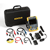 Fluke 190-202/AM/S 200 MHz, 2 Ch, 2.5 MS/s, ScopeMeter Oscilloscope w/Built-in DMM & SCC-290 Kit