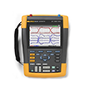 Fluke 190-504/UN/S 500 MHz, 4 Channel, ScopeMeter Oscilloscope With BC190 Charger and SCC290 Kit