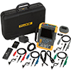 Fluke 190-104/AM/S 100 MHz, 4 Ch, 1.25 GS/s, ScopeMeter Oscilloscope w/Built-in DMM & SCC-290 Kit