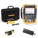 Fluke 190102AM-BP291-HH290-DD Depot Deal 100 MHz, 2 Ch, Scopemeter, w/ FREE battery, & Hanging Hook