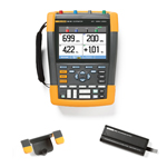 Fluke 190102AMS-BP291-HH290-DD Depot Deal 100 MHz, 2 Ch, Scopemeter, w/ FREE battery, & Hanging Hook