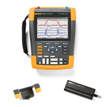 Fluke 190104AMS-BP291-HH290-DD Depot Deal 100 MHz, 4 Ch, ScopeMeter, w/ FREE battery, & Hanging Hook