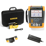 Fluke 190202AM-BP291-HH290-DD Depot Deal 200 MHz, 2 Ch, Scopemeter, w/ FREE battery, & Hanging Hook