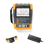 Fluke 190202AMS-BP291-HH290-DD Depot Deal 200 MHz, 2 Ch, Scopemeter, w/ FREE battery, & Hanging Hook