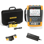 Fluke 190204AM-BP291-HH290-DD Depot Deal 200 MHz, 4 Ch, ScopeMeter, w/ FREE battery, & Hanging Hook