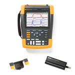Fluke 190204AMS-BP291-HH290-DD Depot Deal 200 MHz, 4 Ch, ScopeMeter, w/ FREE battery, & Hanging Hook
