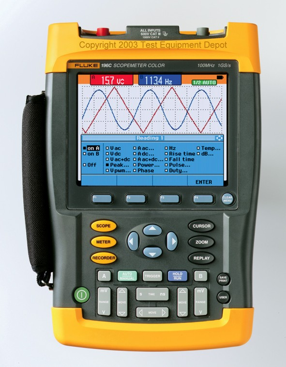 Fluke Test Instruments : Fluke c and color scopemeters test