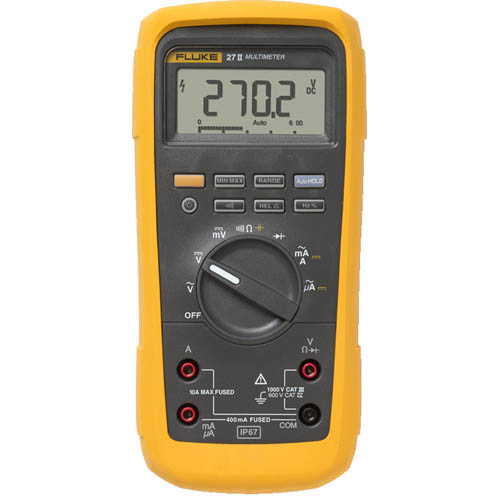 Fluke 27II *Factory Reconditioned*  Rugged IP 67 Industrial Digital Multimeter