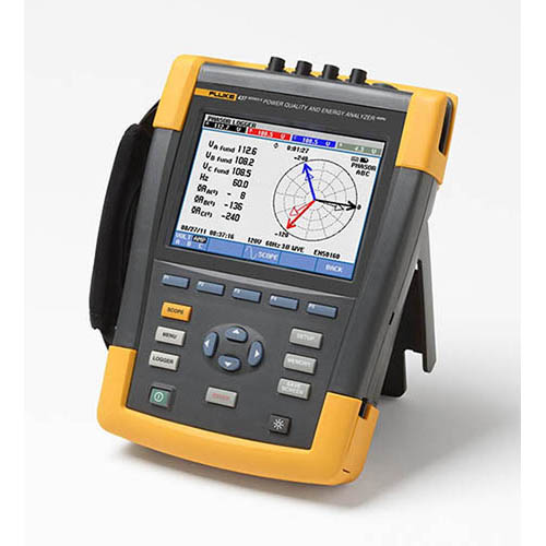 Fluke 437-II Three-Phase Power Quality and Energy Analyzer with iFlex Probes, 400 Hz (Angle)