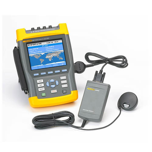Fluke Test Instruments : Fluke gps time synchronization module at test