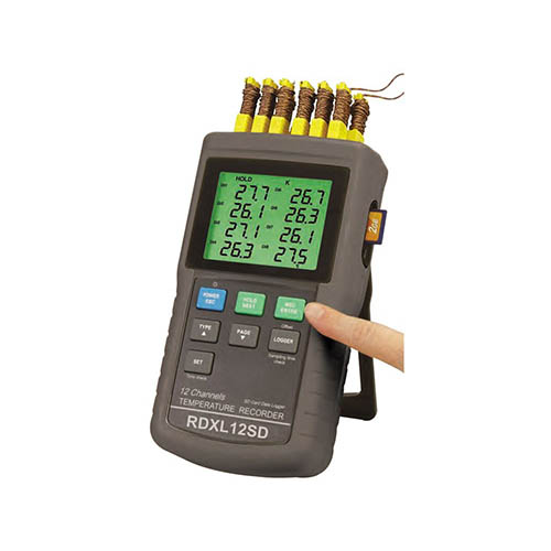 General Tools RDXL12SD 12-Channel Datalogging Thermometer with Excel