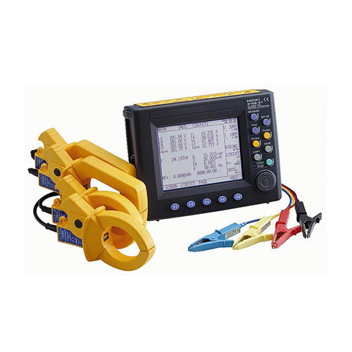 Hioki 3169-21-01/1000 Power Quality Analyzer Kit with D/A Output & three 1000 AAC Clamp on Sensors
