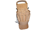 IDEAL Electrical 35-312 Standard ERGO Leather Tool Pouch (Natural)