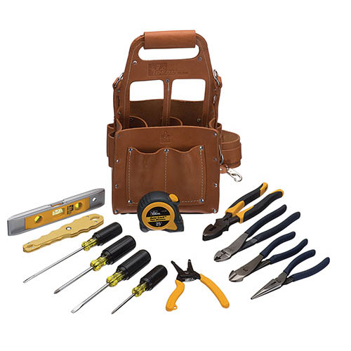 IDEAL Electrical 35-804 Premium Tuff-Tote Tool Carrier Hand Tool Kit (Black)