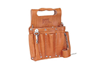 IDEAL Electrical 35-950 Premium Tuff-Tote Leather Pouch w/Shoulder Strap (Tan)