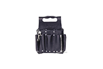 IDEAL Electrical 35-950BLK Premium Tuff-Tote Leather Pouch w/Shoulder Strap (Black)