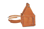 IDEAL Electrical 35-975 Premium Tuff-Tote Ultimate Leather Tool Carrier w/Shoulder Strap (Tan)