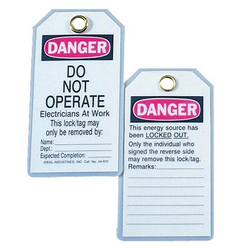 "IDEAL Electrical 44-843 ""Do Not Operate Electricians at Work"" Economy Vinyl Lockout Tags (25)"