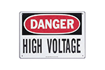 "IDEAL Electrical 44-863 7 in. x 10 in. ""Danger High Voltage"" Polyester Safety Sign"