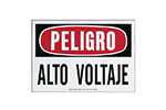 "IDEAL Electrical 44-865 7 in. x 10 in. ""Danger High Voltage"" Spanish Polyester Safety Sign"