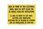 "IDEAL Electrical 44-878 3 1/2 in. x 10 in. ""OSHA Regulation 36 in. Clearance"" Bilingual Lockout Sign"