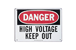 "IDEAL Electrical 44-881 7 in. x 10 in. ""Danger High Voltage Keep Out"" Polyester Safety Sign"
