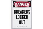 "IDEAL Electrical 44-890 5in. x 7 in. ""Danger Breakers Locked Out"" Magnetic Lockout Sign"
