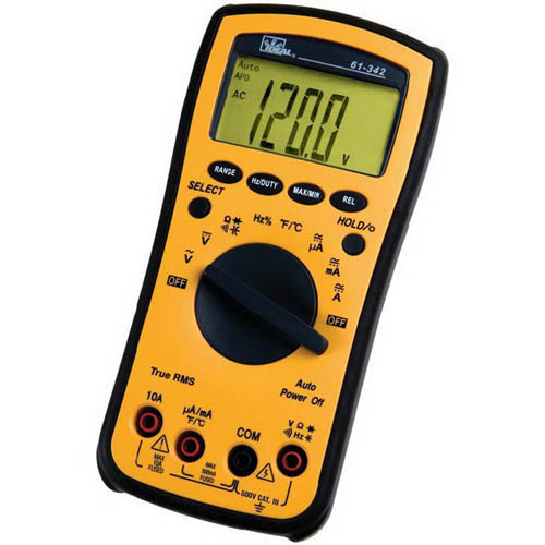 IDEAL Electrical 61-342 True-RMS Test-Pro Digital Multimeter with AC