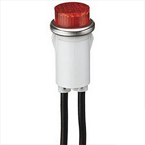 IDEAL Electrical 776311 28V/.04A Incandescent Raised Indicator Light w/6 in. Wire Leads (Amber)